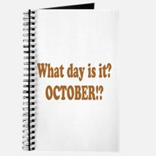 What day is it? October? Journal