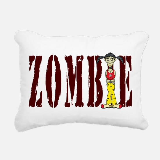 Zombie Girl Rectangular Canvas Pillow