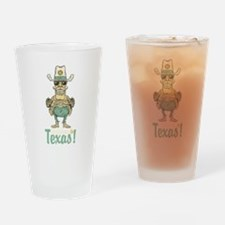Vintage welcome to Texas art Drinking Glass