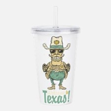 Vintage welcome to Tex Acrylic Double-wall Tumbler