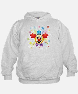 Clown profile abstract design Hoodie