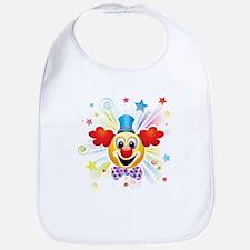 Clown profile abstract design Bib