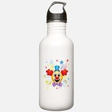 Clown profile abstract Water Bottle