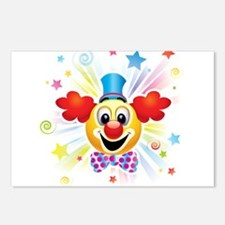 Clown profile abstract de Postcards (Package of 8)