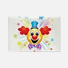 Clown profile abstract design Magnets