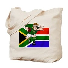 Rugby forward South Africa Tote Bag