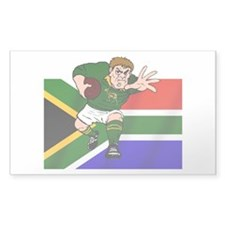 Rugby forward South Africa Rectangle Decal