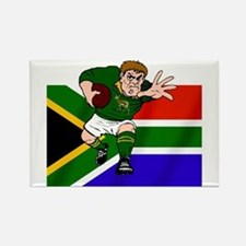 Rugby forward South Africa Rectangle Magnet