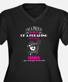 Proud Wife Of Freaking Awesome F Plus Size T-Shirt