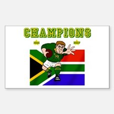 South Africa Rugby Sticker (Rectangle)