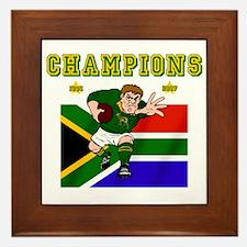 South Africa Rugby Framed Tile