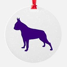 Boston Terrier Purple 2 Ornament