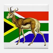 South Africa Springbok Flag Tile Coaster