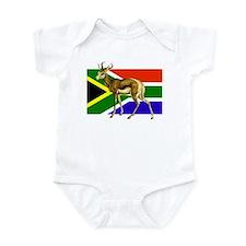 South Africa Springbok Flag Infant Bodysuit