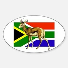 South Africa Springbok Flag Decal
