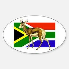 South Africa Springbok Flag Sticker (Oval)