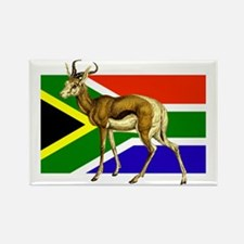 South Africa Springbok Flag Rectangle Magnet