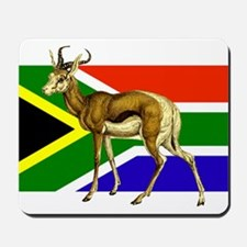 South Africa Springbok Flag Mousepad