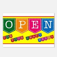 Craft Shop Open Sign Postcards (Package of 8)