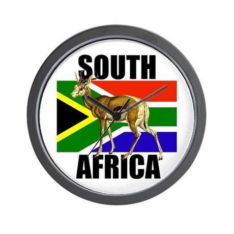 South africa springbok wall clock by culturegraphics for Modern wall clocks south africa