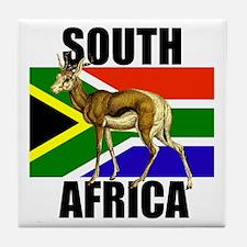 South Africa Springbok Tile Coaster