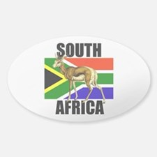 South Africa Springbok Sticker (Oval)