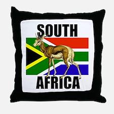 South Africa Springbok Throw Pillow