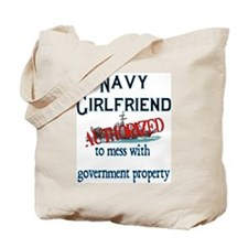 Navy Girlfriend Authorized Tote Bag