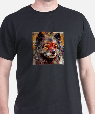 Keeshond: A Portrait in Oil T-Shirt