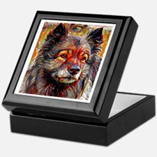 Keeshond: A Portrait in Oil Keepsake Box
