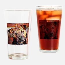 Lakeland Terrier: A Portrait in Oil Drinking Glass