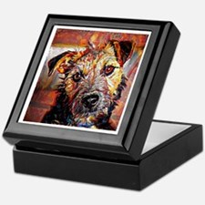 Lakeland Terrier: A Portrait in Oil Keepsake Box