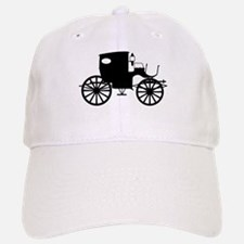 Old Carriage Silhouette Baseball Baseball Cap