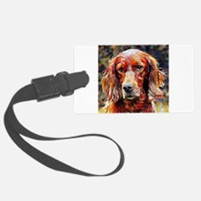 Irish Setter: A Portrait in Oil Luggage Tag