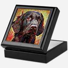 Flat Coated Retriever: A Portrait in Keepsake Box
