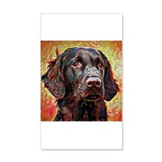 Flat Coated Retriever: A Portrait Wall Decal