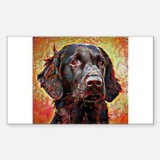 Flat Coated Retriever: A Portr Decal