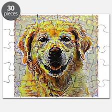 Golden Retriever: A Portrait in Oil Puzzle