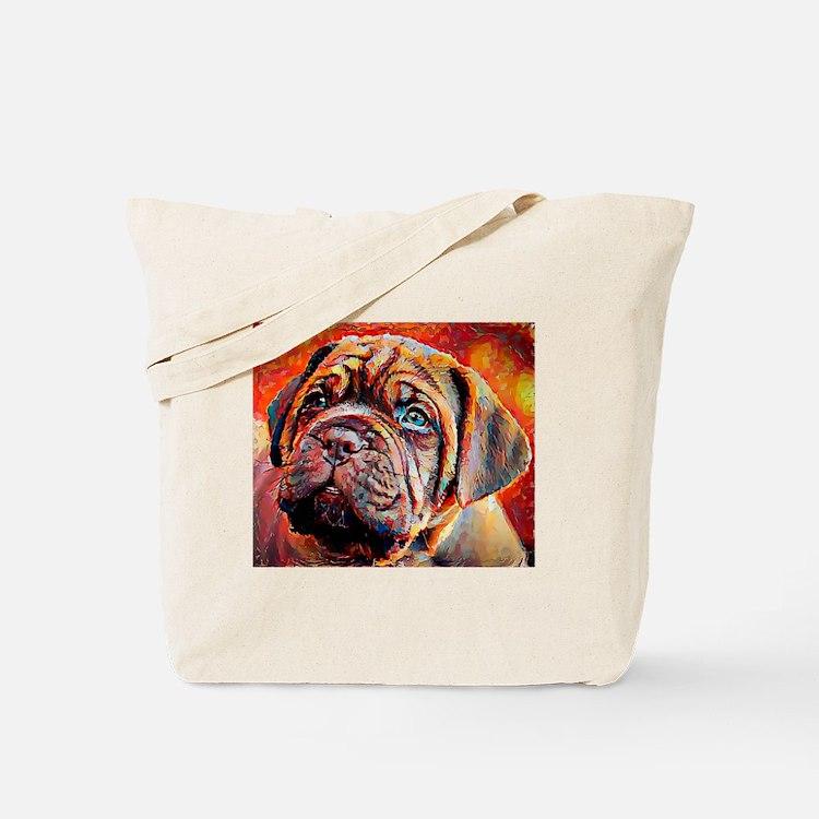 Dogue de Bordeaux: A Portrait in Oil Tote Bag