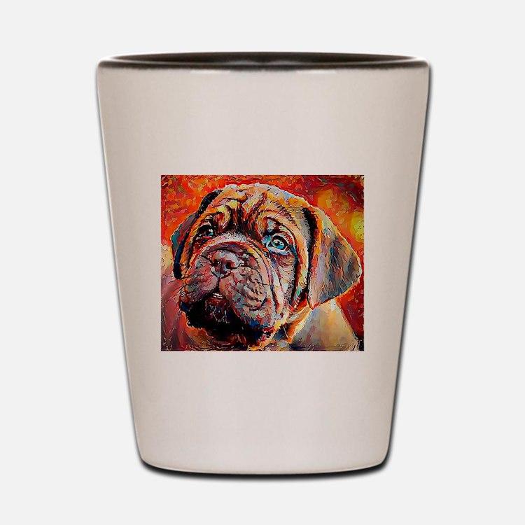 Dogue de Bordeaux: A Portrait in Oil Shot Glass