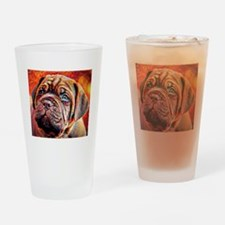 Dogue de Bordeaux: A Portrait in Oi Drinking Glass