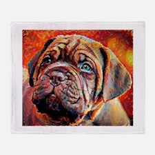 Dogue de Bordeaux: A Portrait in Oil Throw Blanket