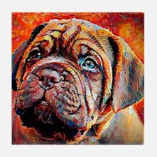 Dogue de Bordeaux: A Portrait in Oil Tile Coaster
