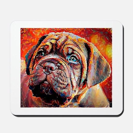 Dogue de Bordeaux: A Portrait in Oil Mousepad