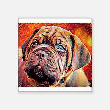 """Dogue de Bordeaux: A Portra Square Sticker 3"""" x 3"""""""