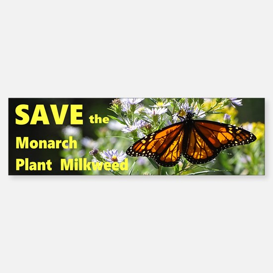Save the Monarch Bumper Bumper Stickers