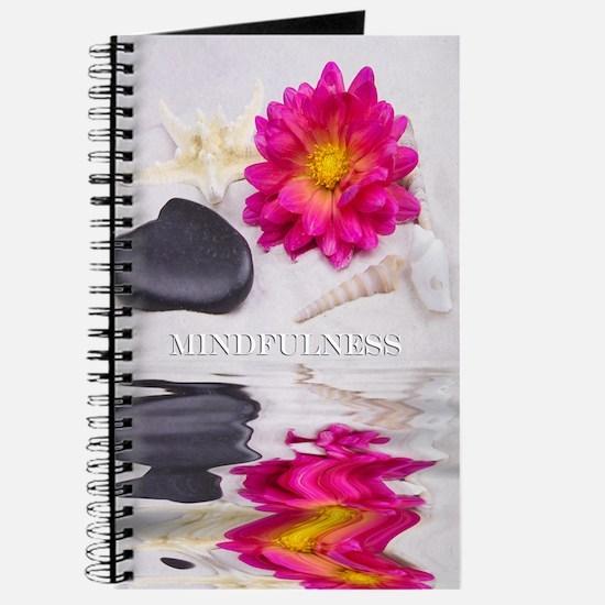 Be Mindful Zen Rocks with Sea Shells Journal
