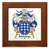 Montoya family crest Framed Tiles