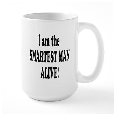 Smartest Man Alive Large Mug