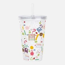 Different school symbo Acrylic Double-wall Tumbler